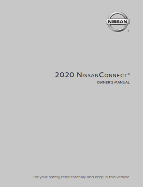 2020 Nissan Altima Connect Navigation System Owners Manual Free Download