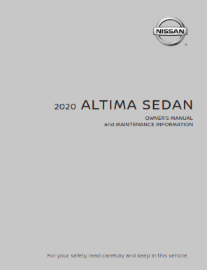 2020 Nissan Altima Sedan Owner Manual And Maintenance Information Free Download