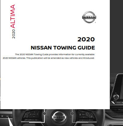 2020 Nissan Altima Towing Guide Free Download