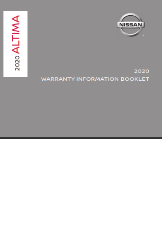 2020 Nissan Altima Warranty Information Booklet Free Download