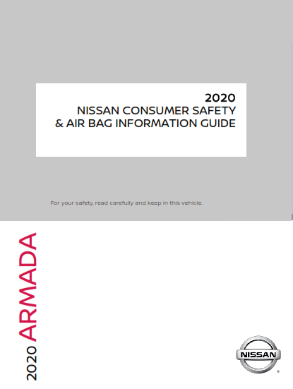 2020 Nissan Armada Consumer Safety And Air Bag Information Guide Free Download