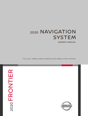 2020 Nissan Frontier lc2 Kai Navigation System Owners Manual Free Download