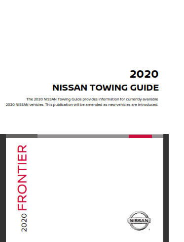 2020 Nissan Frontier Towing Guide Free Download
