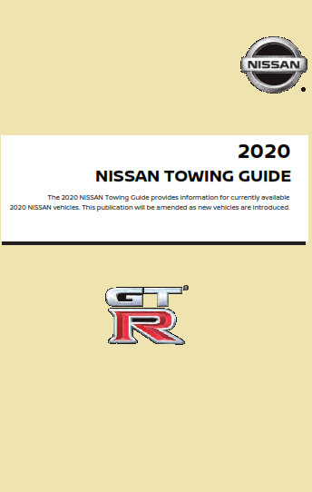 2020 Nissan Gtr Towing Guide Free Download