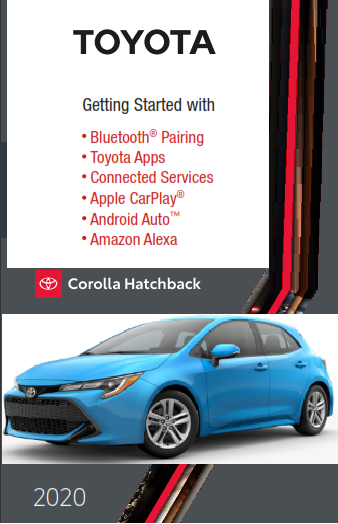 2020 Toyota Corolla Hatchback Getting Started With Audio Multimedia Free Download