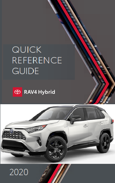 2020 Toyota rav4 Hybrid Quick Reference Guide Free Download