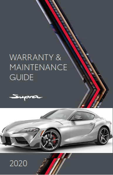 2020 Toyota Supra Warranty And Maintenance Guide Free Download