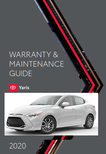 2020 Toyota Yaris Warranty And Maintenance Guide Free Download