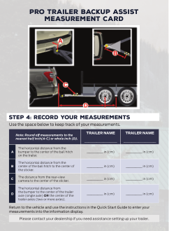2021 Ford Expedition Pro Trailer Backup Assist Measurement Card Free Download