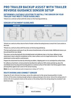 2021 Ford f-150 Pro Trailer Backup Assist With Trailer Reverse Guidance Measurement Card Free Download