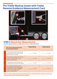 2021 Ford f-450 Pro Trailer Backup Assist With Trailer Reverse Guidance Measurement Card Free Download