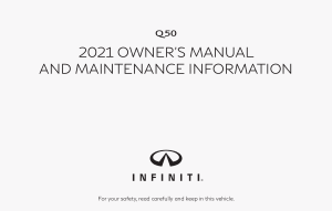 2021 Infiniti Usa q50 Owner Manual Free Download