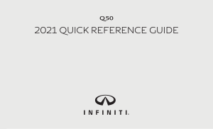 2021 Infiniti Usa q50 Quick Reference Guide Free Download