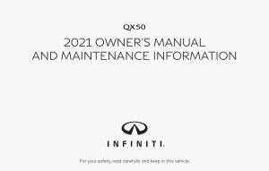 2021 Infiniti Usa qx50 Owner Manual Free Download