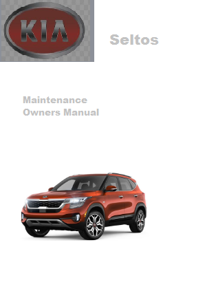 2021 Kia Seltos Maintenance Owners Manual Free Download