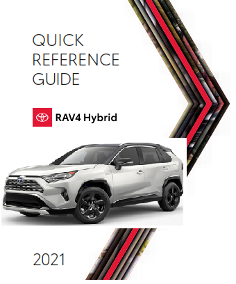 2021 Toyota rav4 Hybrid Quick Reference Guide Free Download