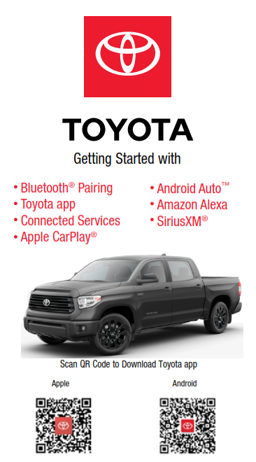 2021 Toyota Tundra Model Year Audio Multimedia And Connected Services Getting Started Free Download